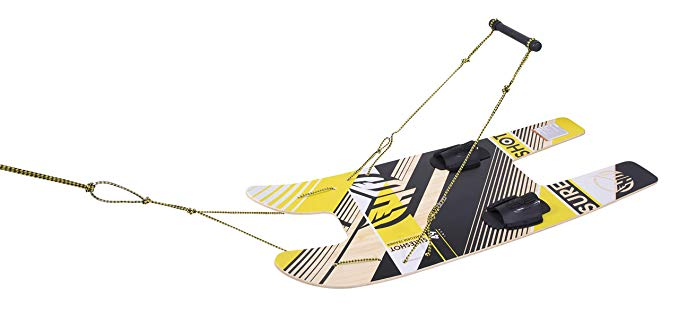 5. HO SPORTS SURE SHOT PLATFORM TRAINER COMBO WATERSKIS WITH ROPE